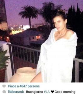 Eli Canalis seminuda su Instagram saluta l'alba di Los Angeles, con il suo Brian?